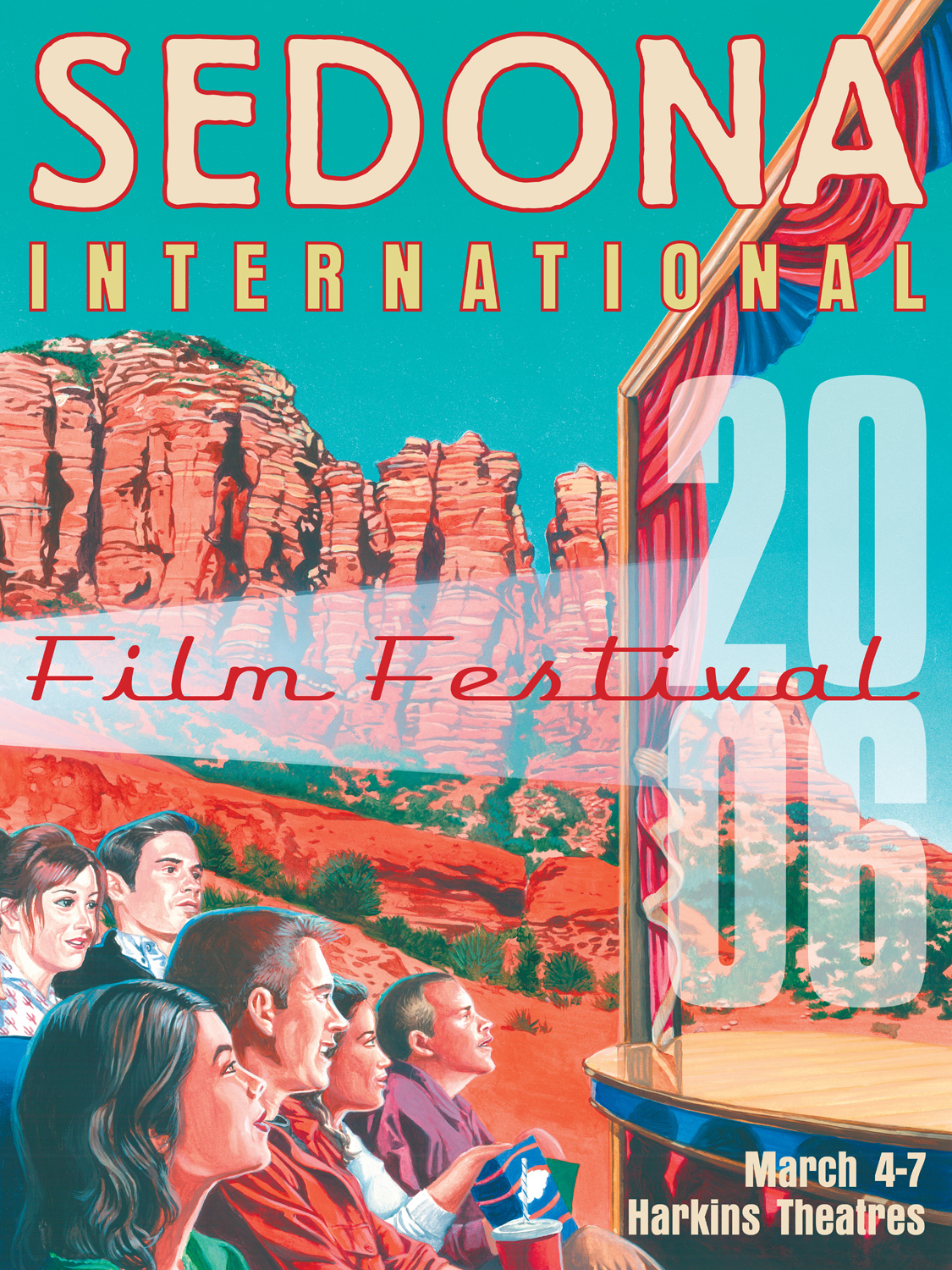 2006 Sedona Film Festival Poster. acrylics, plus Illustrator and Photoshop.