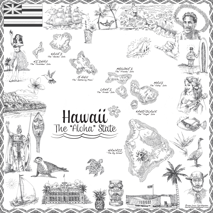 The Hawaii Map Embedded