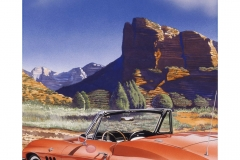 Sedona Vette, gouache, collection of Robert Jartz,