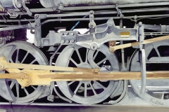 Steel Wheels, watercolor, collection of the artist.